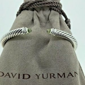 DAVID YURMAN PRASIOLITE DIAMOND BRACELET 5mm